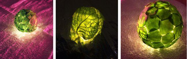 Illuminated brain. Photo.