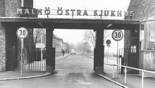 Entrance to the hospital. Photo.