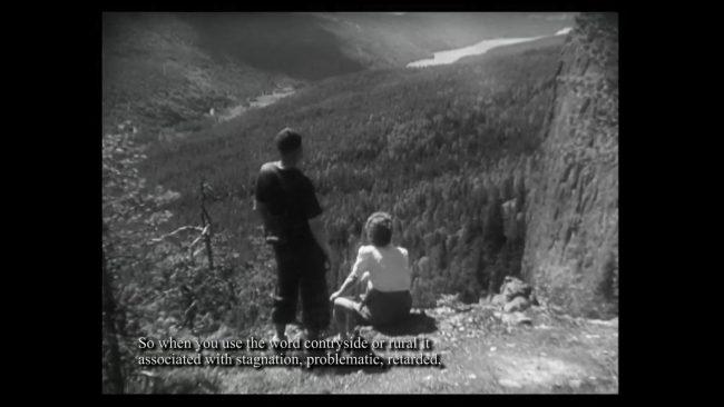 Film still from the videowork Glesbygdsgirls. Photo.