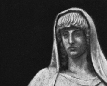 Bust of the Greek goddess Hestia. Photo.