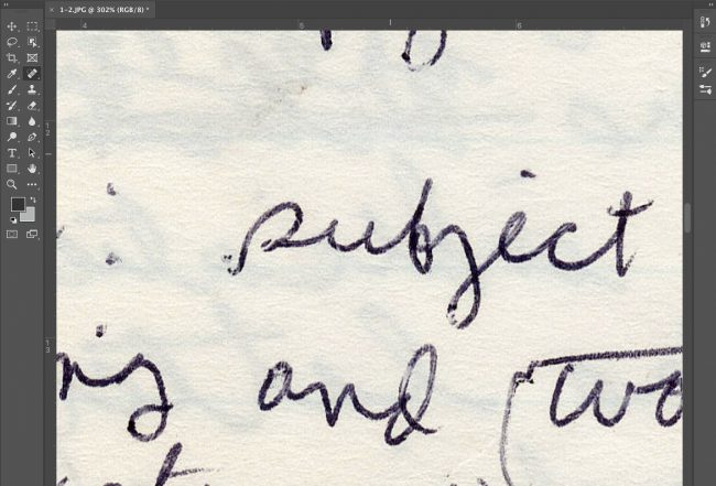 Lettering on a computer screenshot. Illustration.