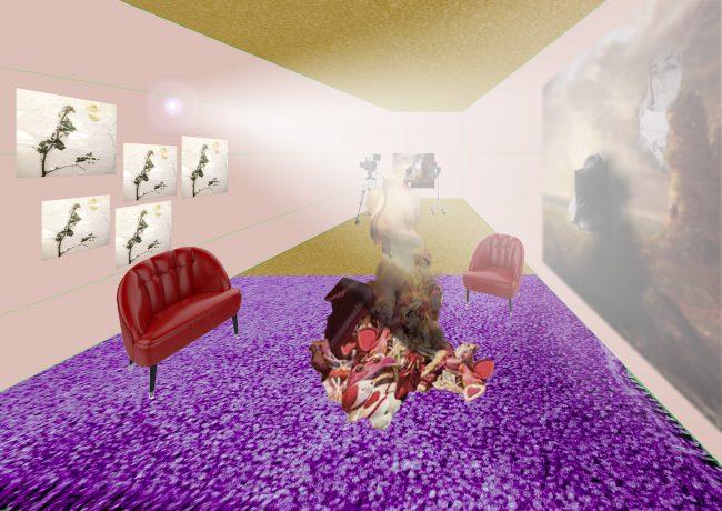 Virtual room. Illustration.