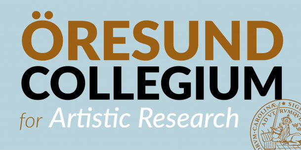Logo with writing Öresund Collegium for Artistic Research. Illutstration.