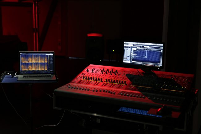 Recording studio in the Red Room. Photo.