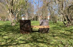 Sound bench at the Botanicall Garden. Photo.