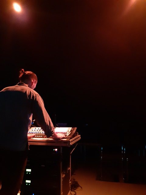 Lasse Munk on the sounds. Photo.