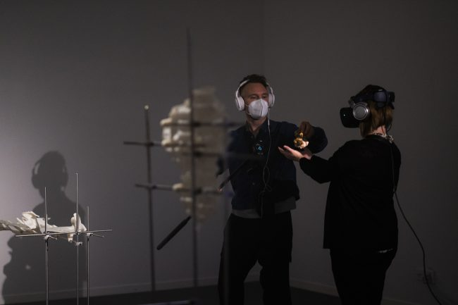 VR performance. Photo.