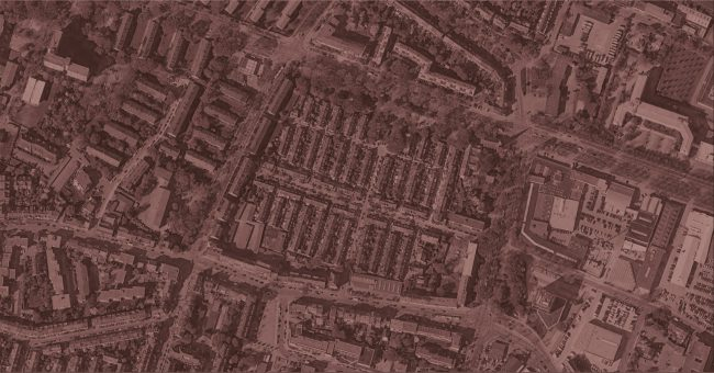 The city of Bremen from an aerial perspective. Photo.