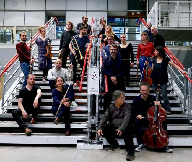 Members of the Ensemble L'itineraire. Photo.